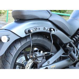 【セール特価】バルカンS(VULCAN S)/ABS バッグサポート ブラック 左右セット KIJIMA(キジマ)|zerocustom