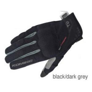 GK-183(06-183)プロテクトメッシュグローブ ブレイブ ブラック/ダークグレー XLサイズ コミネ(KOMINE)|zerocustom