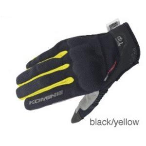 GK-183(06-183)プロテクトメッシュグローブ ブレイブ ブラック/イエロー Lサイズ コミネ(KOMINE)|zerocustom