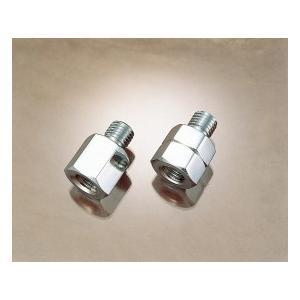 ミラーアダプターセット メッキ/8mmタイプ(右側正ネジ→逆ネジ変換用) KITACO(キタコ)