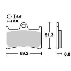 RAIDER(XV1900CU)08〜09年 ストリート(セラミック)ブレーキパッド フロント用 634HF SBS(エスビーエス)|zerocustom