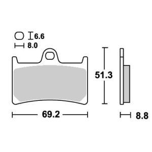 RAIDER(XV1900CU)08〜09年 レーシング(デュアルカーボン)ブレーキパッド フロント用 634DC SBS(エスビーエス)|zerocustom