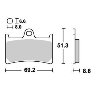 RAIDER(XV1900CU)08〜09年 レーシング(デュアルシンター)ブレーキパッド フロント用 634DS SBS(エスビーエス)|zerocustom