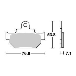 LS400 SAVAGE ストリート(セラミック)ブレーキパッド フロント用 581HF SBS(エスビーエス)|zerocustom