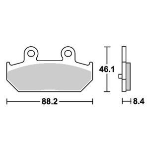 スカイウェイブ(CJ44・CJ45・CJ46) ストリートエクセル(シンター)ブレーキパッド リア用 804LS SBS(エスビーエス)
