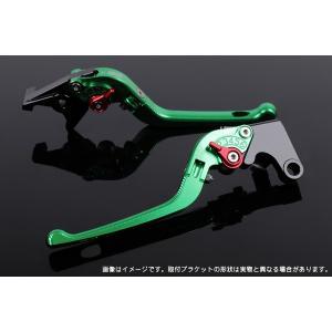 KTM 125DUKE 可倒式アジャストレバーセット 3D レバー:グリーン  SSK(エスエスケー)|zerocustom