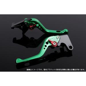 KTM 125DUKE ショートアジャストレバーセット 3D レバー:グリーン  SSK(エスエスケー) zerocustom