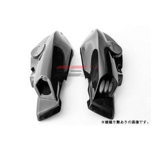 BMW K1200R エアダクトカバー 左右セット ドライカーボン 綾織り艶あり SSK(エスエスケー)|zerocustom