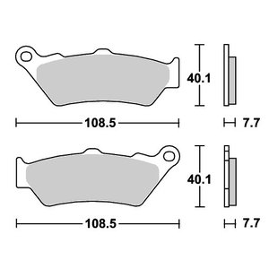 BMW C1 125(00年〜) ストリートエクセル(シンター)ブレーキパッド フロント用 674HS SBS(エスビーエス)|zerocustom