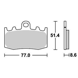 BMW R1200 HP2 MEGAMOTO(07年) ストリート(セラミック)ブレーキパッド フロント用 796HF SBS(エスビーエス)|zerocustom