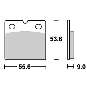 BMW K1200RS ストリートエクセル(シンター)ブレーキパッド リア用 506LS SBS(エスビーエス)|zerocustom