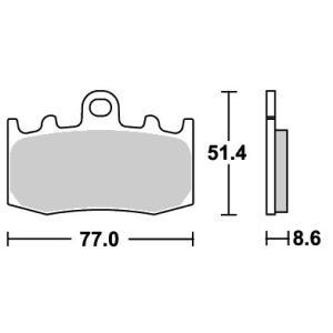 BMW K1200RS(01〜02年) ストリートエクセル(シンター)ブレーキパッド フロント用 796HS SBS(エスビーエス) zerocustom