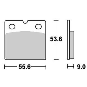 BMW R1100RS ストリートエクセル(シンター)ブレーキパッド リア用 506LS SBS(エスビーエス) zerocustom