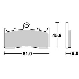 BMW R1150R Rockster(03年〜) ストリートエクセル(シンター)ブレーキパッド フロント用 778HS SBS(エスビーエス) zerocustom