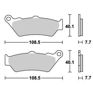BMW R1200GS(13〜14年) ストリート(セラミック)ブレーキパッド リア用 674HF SBS(エスビーエス)|zerocustom
