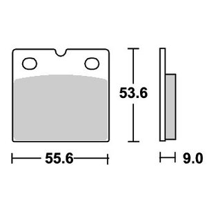BMW R65GS(87年〜) ストリート(セラミック)ブレーキパッド フロント用 506HF SBS(エスビーエス)|zerocustom