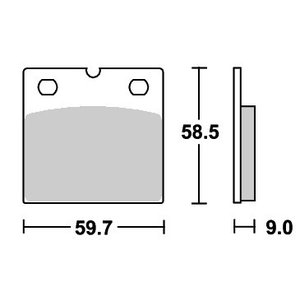BMW R65/1(86年〜) ストリート(セラミック)ブレーキパッド フロント用 554HF SBS(エスビーエス)|zerocustom