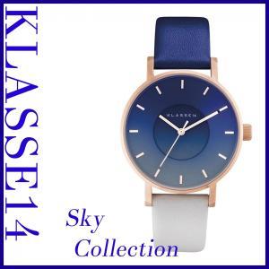 KLASSE14 腕時計 防水 安い Volare SKY MIDNIGHT 36mm ローズゴールド×ブルー×グレー メンズ レディース ユニセックス zeropartner