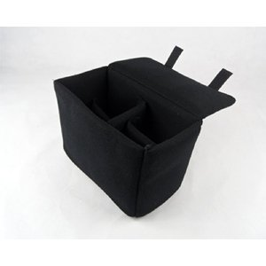 一眼レフ カメラバッグ インナーバッグ ソフトクッションボックス インナークッションケース ブラック|zeropotjapan|03