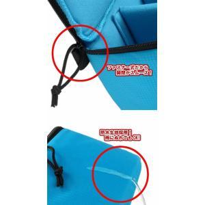 一眼レフ カメラバッグ インナーバッグ ソフトクッションボックス インナークッションケース 撥水加工 ブルー|zeropotjapan|04