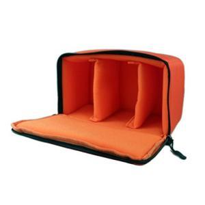 一眼レフ カメラバッグ インナーバッグ ソフトクッションボックス インナークッションケース 撥水加工 オレンジ|zeropotjapan|03