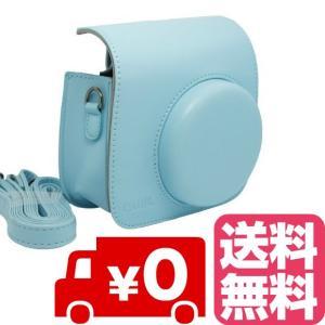 FUJIFILM インスタントカメラ チェキ instax mini 8 mini8+ プラス mini9 専用 カメラケース (ブルー) zeropotjapan