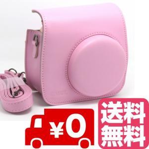 FUJIFILM インスタントカメラ チェキ instax mini 8 mini8+ プラス mini9 専用 カメラケース (ピンク) zeropotjapan