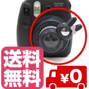 チェキ instax mini8 mini7s mini8+ mini9 用 自撮りミラー付き 接写レンズ クローズアップレンズ(ブラック) zeropotjapan