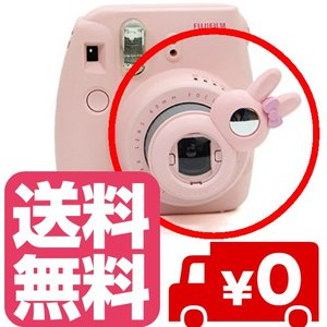 チェキ instax mini8 mini7s mini8+ mini9 用 自撮りミラー付き 接写レンズ クローズアップレンズ(ピンク) zeropotjapan