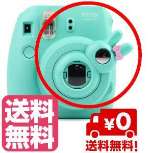 チェキ instax mini8 mini7s mini8+ mini9 用 自撮りミラー付き 接写レンズ クローズアップレンズ(ミント) zeropotjapan