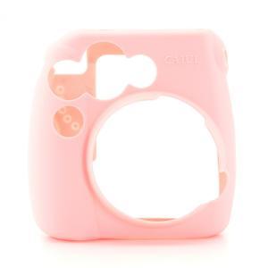 チェキ instax mini 8 mini8+ プラス mini9 用 カメラケース 富士 (すべりにくい ラバー仕様) ピンク|zeropotjapan