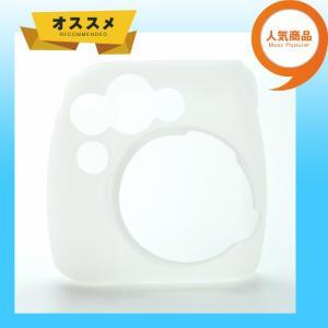 チェキ instax mini 8 mini8+ プラス mini9 用 カメラケース 富士 (すべりにくい ラバー仕様) ホワイト zeropotjapan