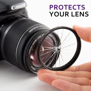 Canon EOS Kiss X9i X9 X8i X7i ダブルズームレンズキット用 互換 レンズフード EW-63C ET-63 58mm フィルター 2枚 4点セット|zeropotjapan|06