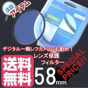 58mm UV Filter レンズ保護フィルター おすすめ 一眼レフ レンズフィルター 【薄枠設計...