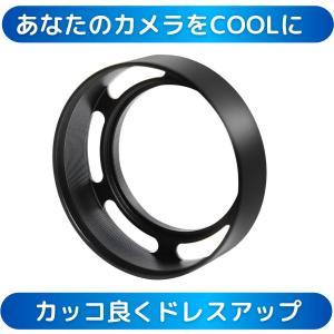 水平 メタルフード メタルレンズフード メタル レンズフード 43mm 各メーカー対応