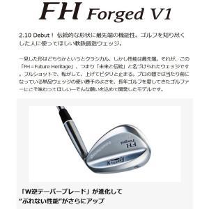 フォーティーン FH Forged V1 パールサテン ウェッジ FOURTEEN FH Forged V1 WEDGE NSPRO MODUS3 TOUR105 スチールシャフト|zerost|02