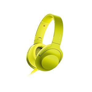 ソニー SONY ヘッドホン h.ear on ハイレゾ対応 密閉型 折りたたみ式 リモコン・マイク付き ライムイエロー MDR-100A Y 中古|zerothree