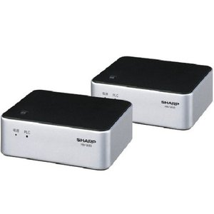 SHARP PLC(高速電力線通信)アダプター LAN1ポート+LAN1ポートタイプ 初期設定済ペアモデル HN-VA10S|zerothree