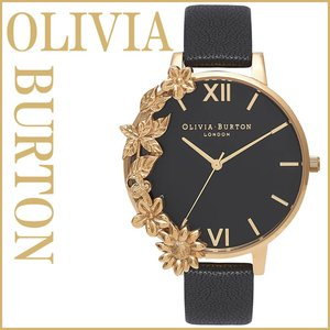 オリビアバートン 腕時計 レディース 花柄 OLIVIA BURTON フラワー ケースカフ ブラック ゴールド おしゃれ 可愛い 安い 並行輸入品|zerothree