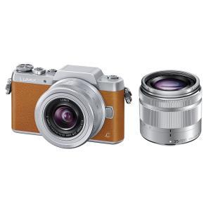 Panasonic ミラーレス一眼カメラ DMC-GF7ダブルズームレンズキット 標準ズームレンズ 望遠ズームレンズ付属 ブラウン DMC-GF7W-T zerotwo-men