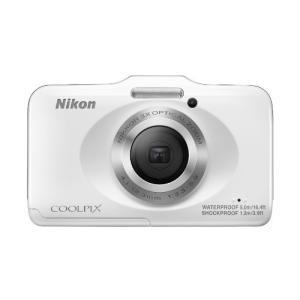 Nikon デジタルカメラ COOLPIX S31 防水5m 耐衝撃1.2m ホワイト S31WH ...