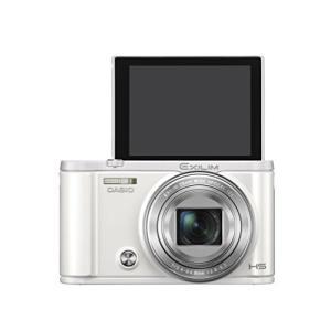 CASIO デジタルカメラ EXILIM EX-ZR3100WE 自分撮りチルト液晶 スマホへ自動送...