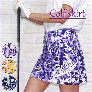 ゴルフスカート 3色 インナーパンツ一体型 スカート レディース 大きいサイズ パープル ブルー イエロー|zerotwo