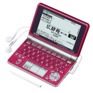 CASIO Ex-word 電子辞書 XD-SP6700RD 100コンテンツ多辞書 ネイティブ+7ヶ国TTS音声対応 メインパネル+手書きパネル搭載 モデル 中古
