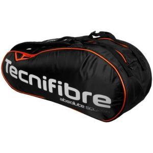 テニス、スカッシュ、バドミントン ラケットバッグ Absolute Orange 6R テクニファイバー TECNIFIBRE