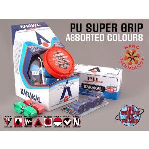バドミントン スカッシュ テニスグリップ PU SUPER GRIP Assorted KARAKAL カラカル|zest-2009