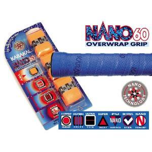バドミントン スカッシュ テニスグリップ NANO 60 GRIP オーバーグリップ  KARAKAL カラカル|zest-2009