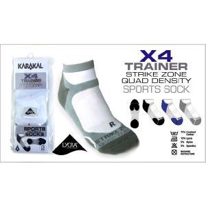 テニス・スカッシュ・バドミントン ×4 TECHNICAL スポーツソックス TRAINER KARAKAL(カラカル)|zest-2009