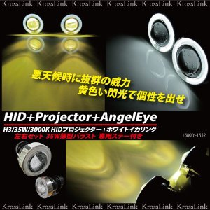HIDプロジェクター 白イカ付 H3 35W 3000K ■_35004(1680)|zest-group