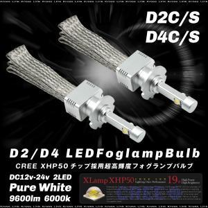D2 D4 LED フォグランプ バルブ 18W 4800lm CREE 6000K 12V 24V 2個 ホワイト フォグライト D2S D2C D4S D4C 普通車 トラック 条件付 送料無料 _32636